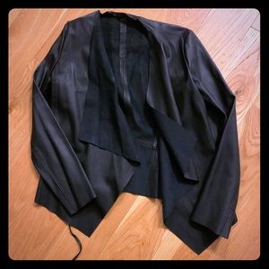Faux Leather Cover-Up Jacket